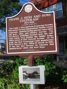 Frank Hess Cooperage sign