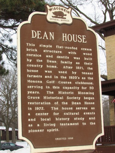 Dean House sign