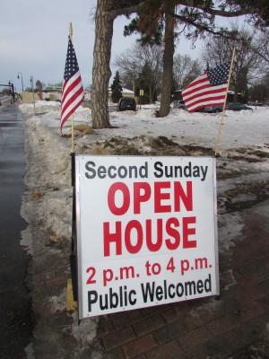 Dean House Open House sign