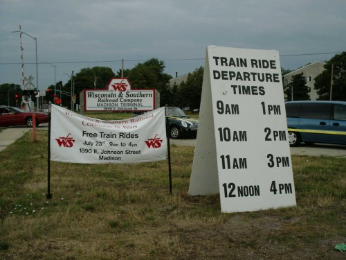 Wisconsin and Southern train ride signs