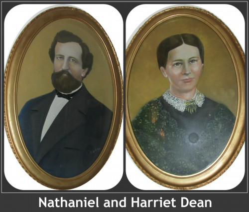 Nathaniel and Harriet Dean Collage
