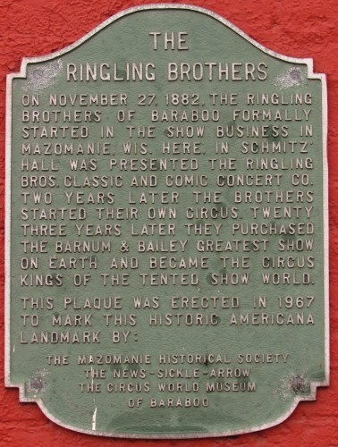 Ringling Brothers sign