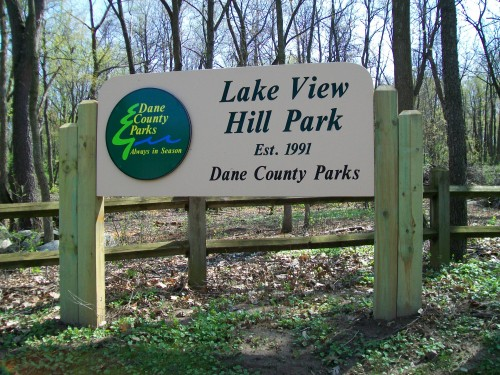 Lake View Hill Park sign