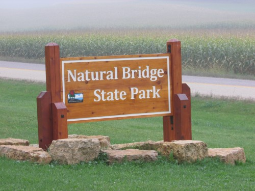 Natural Bridge State Park sign