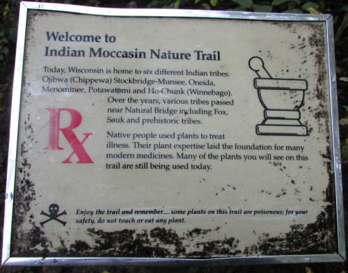Indian Moccasin Trail sign