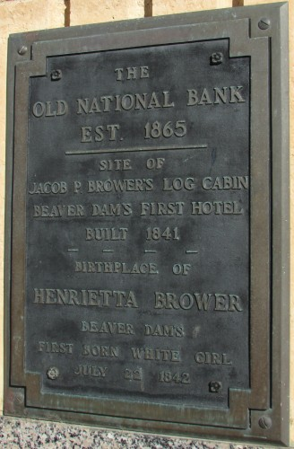 Jacob Brower Cabin site plaque