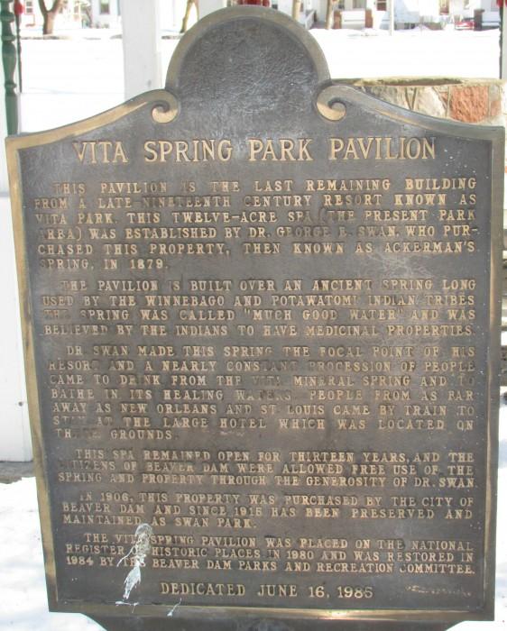 Vita Spring Pavillion marker