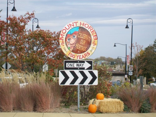 Mt. Horeb Roundabout sign