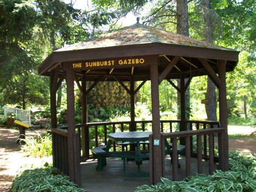 Sunburst Gazebo in Rudolph Grotto