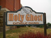Holy Ghost Catholic Church sign