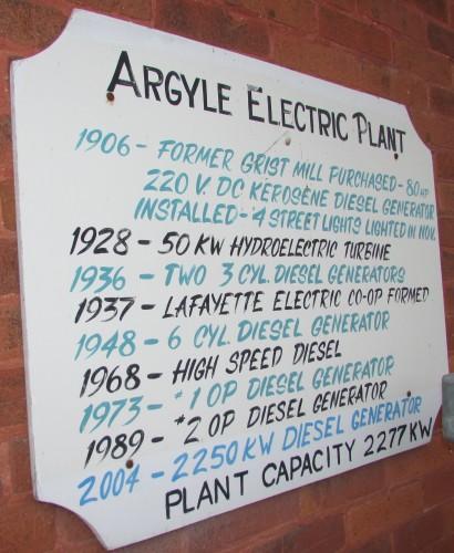 Argyle Power Plant info