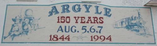 Argyle Sesquicentennial mural