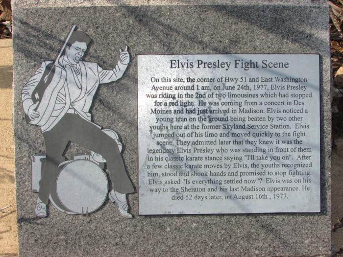Elvis fight scene marker