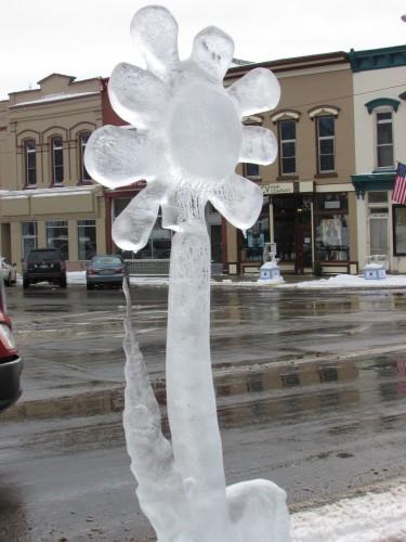 Lake Mills Ice Flower