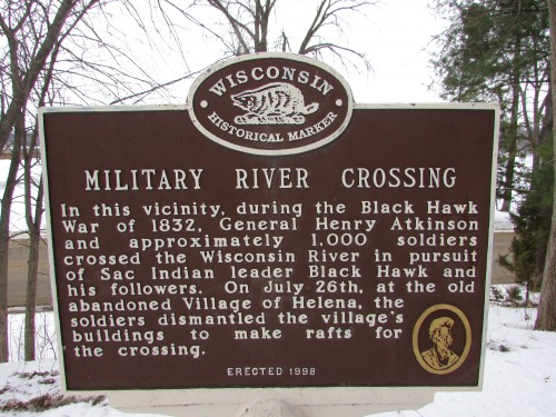 Military River Crossing marker