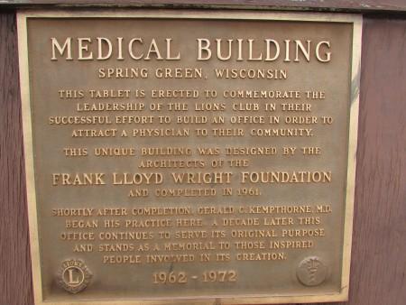 Medical Building plaque