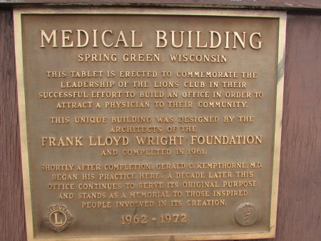 Medical Building plaque