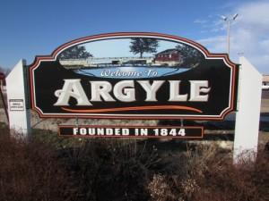 Argyle sign