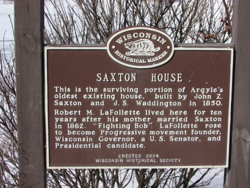 Saxton House marker
