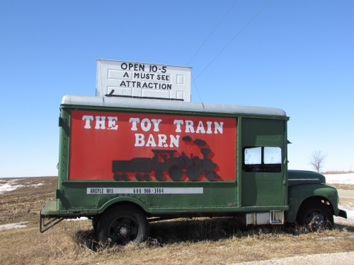 Toy Train Barn sign