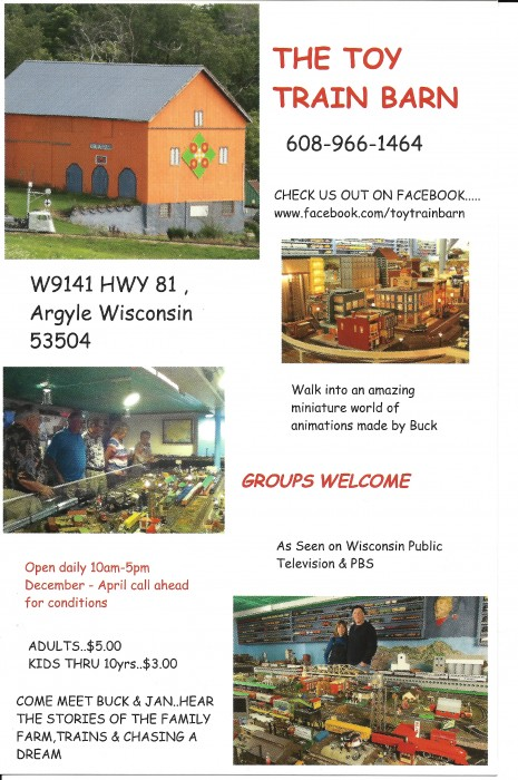 Toy Train Museum Flyer 2014