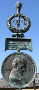 Alex Lopez Park monument detail