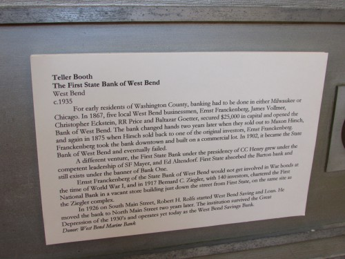 West Bend Bank History