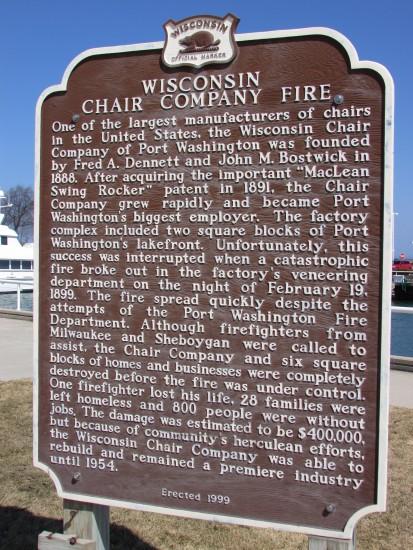 Wisconsin Chair Co. Fire marker