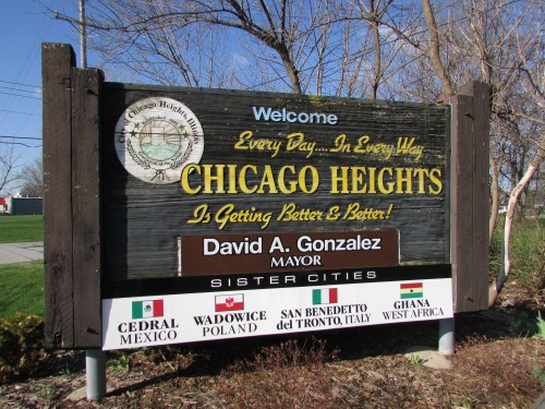 Chicago Heights sign