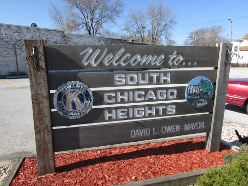 South Chicago Heights sign