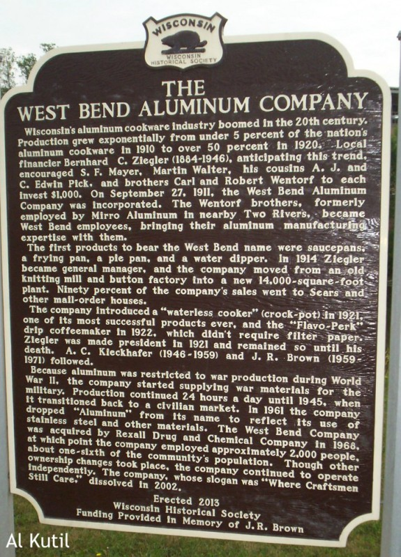 West Bend Aluminum Company marker WM