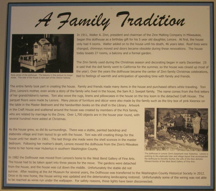 Zinn Doll House history