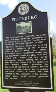 Fitchburg and Illinois Central marker