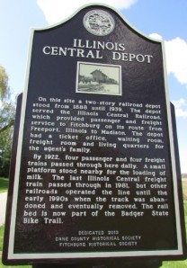 Illinois Central Depot marker
