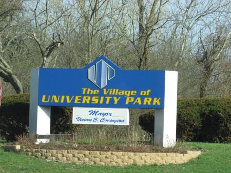 University Park sign