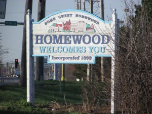 Homewood Illinois sign