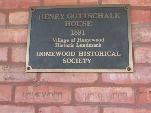 Henry Gottschalk home plaque