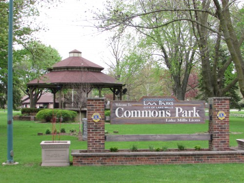 Commons Park in Lake Mills