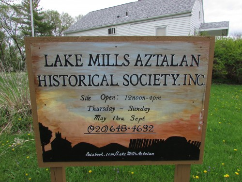 Aztalan Historic Museum sign