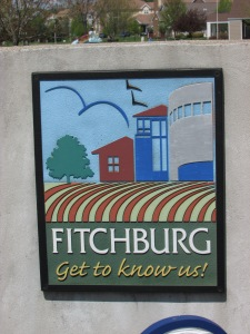 Fitchburg - Get to Know Us sign