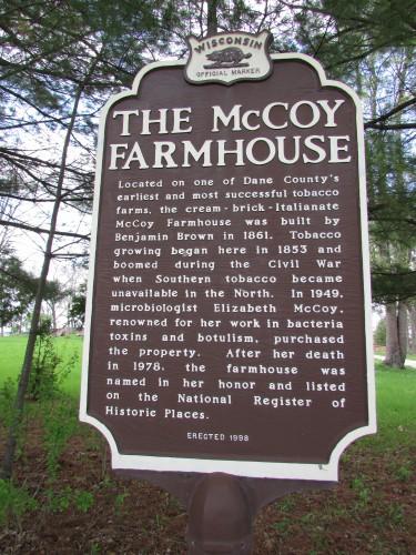 McCoy Farmhouse marker
