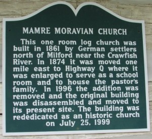 Moravian church marker