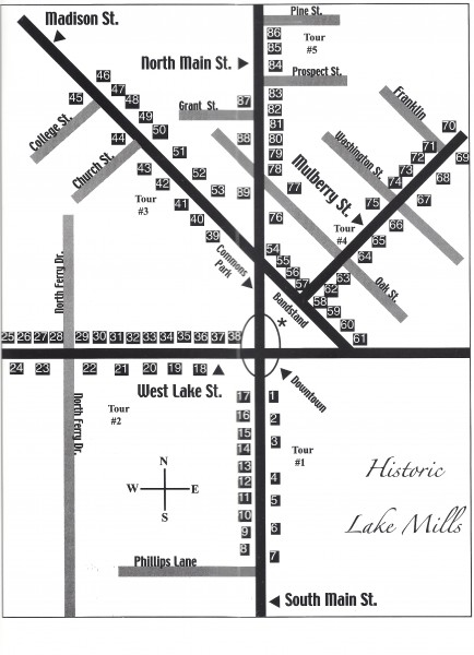 Lake Mills Walking Tour Map