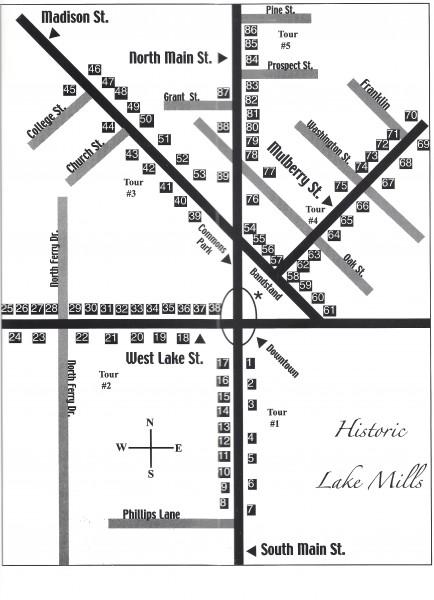 Lake Mills Walking Tour Map