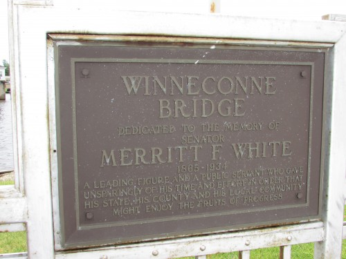 Winneconne Bridge plaque