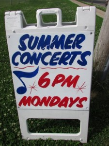 Summer Concert sign