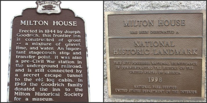 Milton House Markers