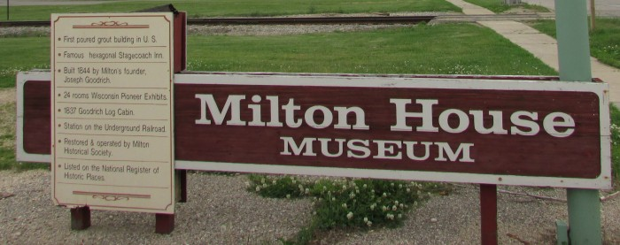Milton House sign
