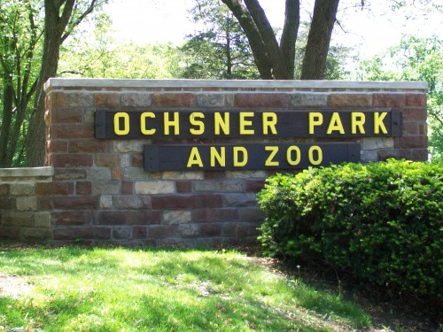 Ochsner Park and Zoo sign