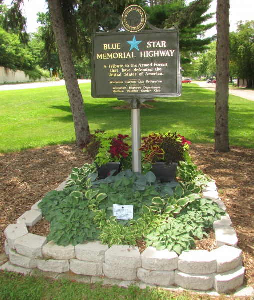 Blue Star Memorial Highway in McFarland